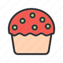 bakery, breakfast, cream, cupcake, muffin, pastry, sweet icon