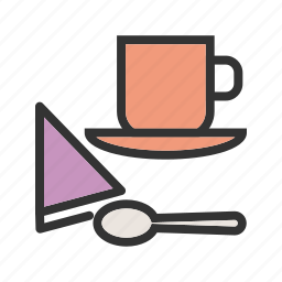 cafe, coffee, customer, people, serving, shop, waiter icon