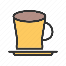 brown, coffee, cup, drink, espresso, fresh, glass icon