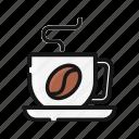 barista, bean, cappucino, coffee, drink, latte, shop icon