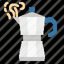 coffee, kettle, kitchenware, moka, pot icon