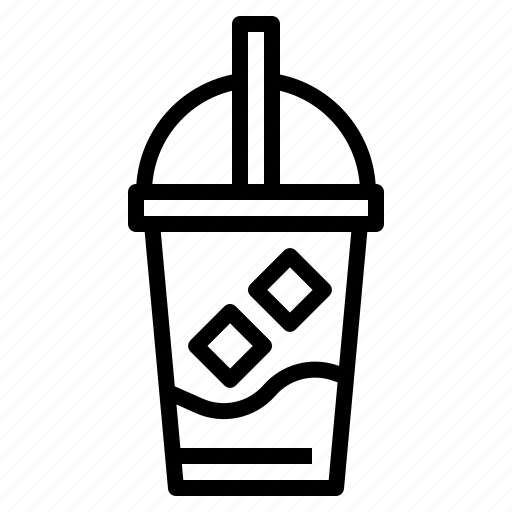 Coffee, cold, drink, ice, iced, latte, shop icon - Download on Iconfinder