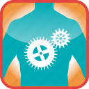 body, cogs, gears, in, industry, the, work icon