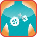 body, cogs, gears, in, technical, the icon