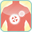 body, cogs, gears, in, the, tool, work icon