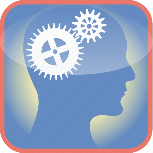 brain, cogs, gears, in, industry, the icon
