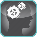 brain, cogs, gears, in, mechanism, the icon