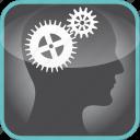 brain, cogs, gears, in, mechanism, the icon