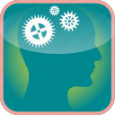 brain, cogs, gears, in, mechanism, the, tool icon