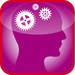 brain, cogs, gears, in, technical, the, work icon