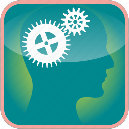 brain, cogs, in, industry, the, tools, work icon