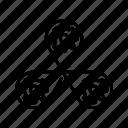 cogwheel, communication, mechanical, system, work icon