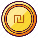 coin, currency, israeli, money, new, shekel icon