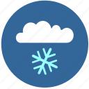 cloud, flake, snow, temperature icon