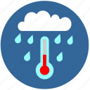 cloud, drop, rain, tempearature, water icon