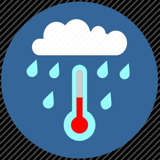 cloud, drop, rain, tempearature, water icon