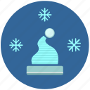 cold, flakes, hat, snow, temperature icon