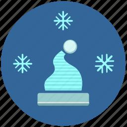 cold, flakes, hat, snow, temperature icon