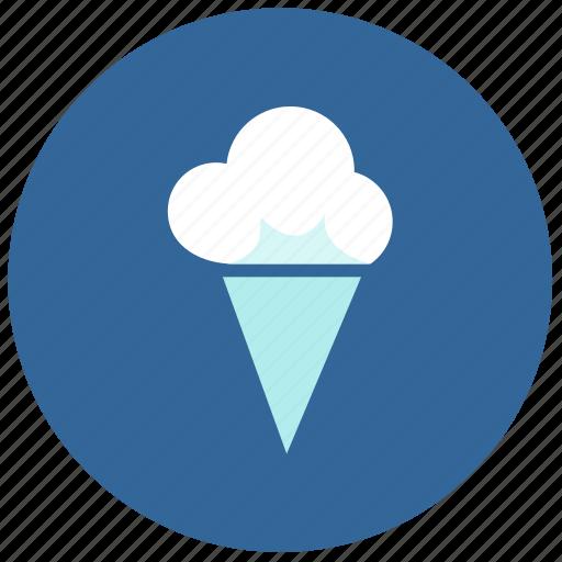 cold, cream, ice, label, round icon