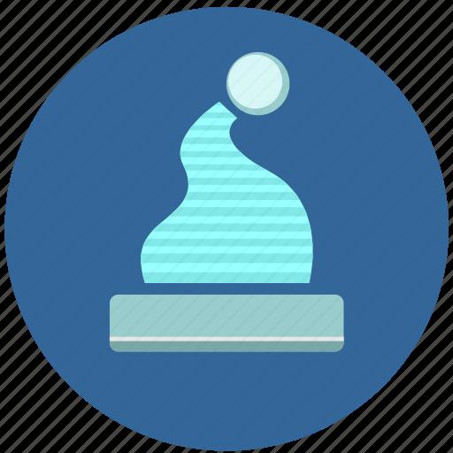 cold, hat, label, round icon