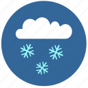 cloud, cold, flakes, snow, temperature icon