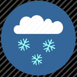 cloud, cold, flakes, snow, temperature icon
