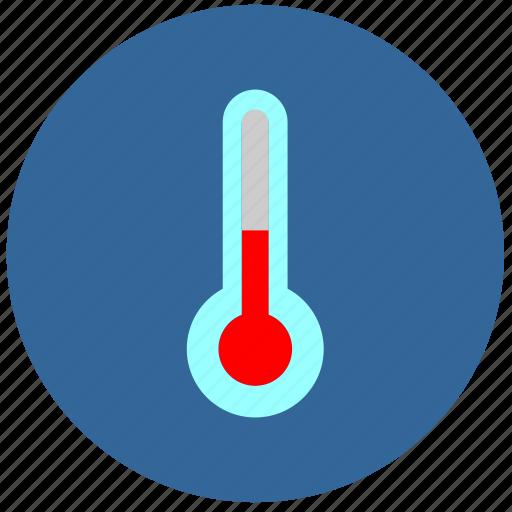 cold, label, round, temperature, weather icon