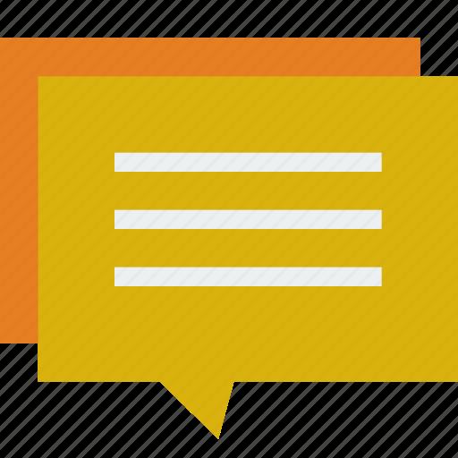 bubble, comment, conversation, review, talk icon