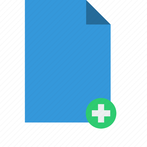add, document, editor, file, new icon