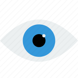 blue, eye, look, preview, read, see, view, watch icon