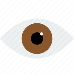 brown, eye, look, preview, read, see, view, watch icon