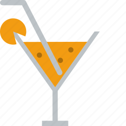 cocktail, drink, glass, orange, outing, wine icon