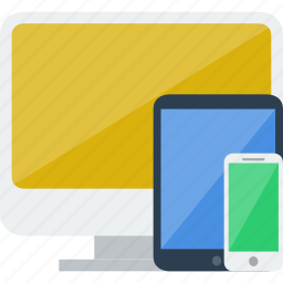 devices, ipad, iphone, monitor, responsive, screen, smartphone, tablet icon