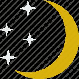 moon, night, star, stars icon