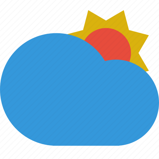 cloud, cloudy, day, summer, sun, weather icon