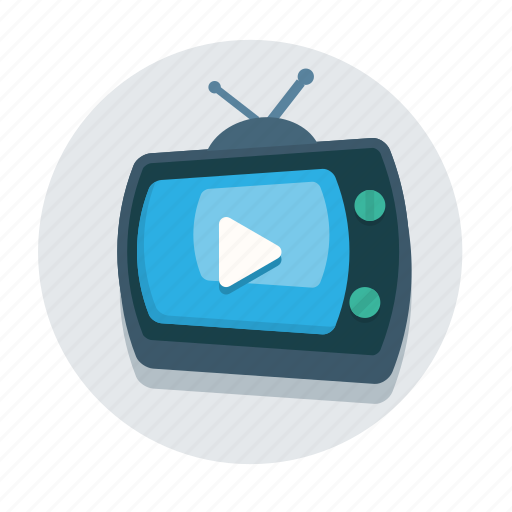 antenna, display, movie, television, video, view, watch icon