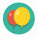 air, balloon, birthday, celebration, decoration, happy, holiday icon