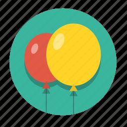 air, balloon, birthday, celebration, decoration, happy, holiday icon