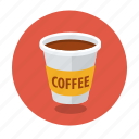 cappuccino, coffee, container, cup, espresso, latte, takeaway icon