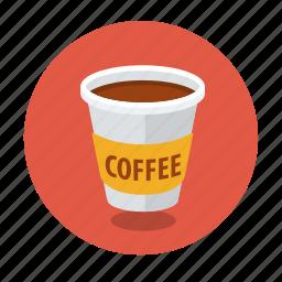 cappuccino, coffee, container, cup, espresso, latte, takeaway icon