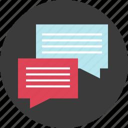 bubble, chat, communication, internet, message, online, social icon