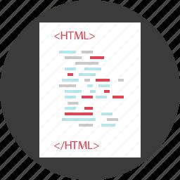 code, communication, html, internet, online, script, web icon