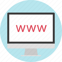 computer, connection, display, monitor, technology, website, www icon