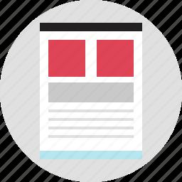 blog, business, internet, online, pictures, web, website icon