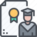certificate, degree, diploma, education, graduated, knowledge, learn, university icon