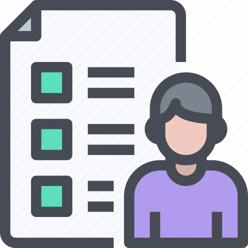 business, check list, document, people, test icon