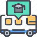 bus, car, school, transport, vehicle icon