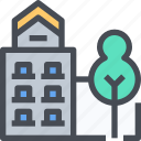 building, dorm, households, office icon