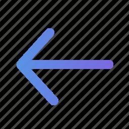 arrow, arrow back, back, left, move, previos, previous icon