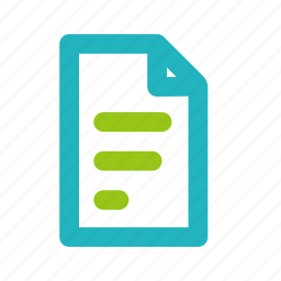 document, file, list, office, page, paper icon
